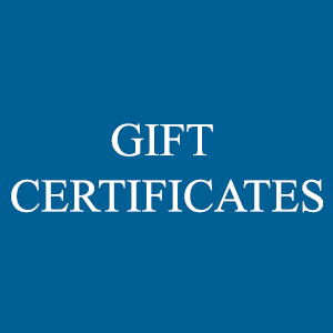 Gift Certificates-gift certificates are not mailed out...please enter giftees name in order notes section during checkout